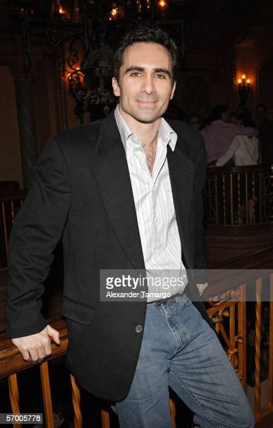 Actor Nestor Carbonell makes an appearance at the Gusman Theatre for the 2006 Miami International Film Festival premiere of The Lost City on March 5...