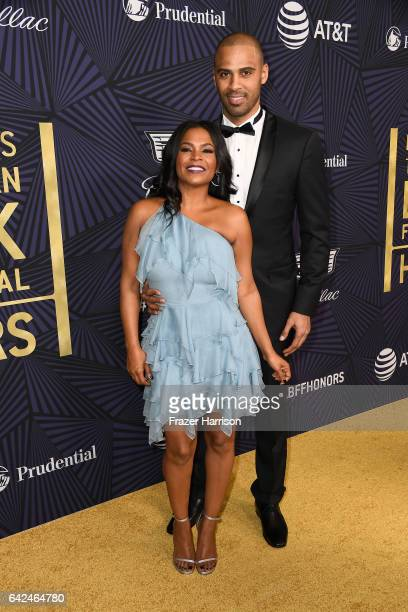 Actor Nia Long and Ime Udoka attend BET Presents the American Black Film Festival Honors on February 17 2017 in Beverly Hills California