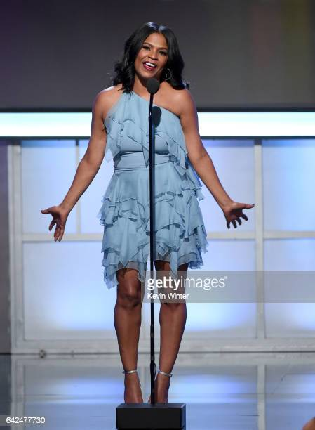 Actor Nia Long speaks onstage during BET Presents the American Black Film Festival Honors on February 17 2017 in Beverly Hills California