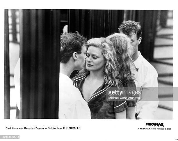 Actor Niall Byrne and actress Beverly D'Angelo in a scene from the movie 'The Miracle' circa 1991