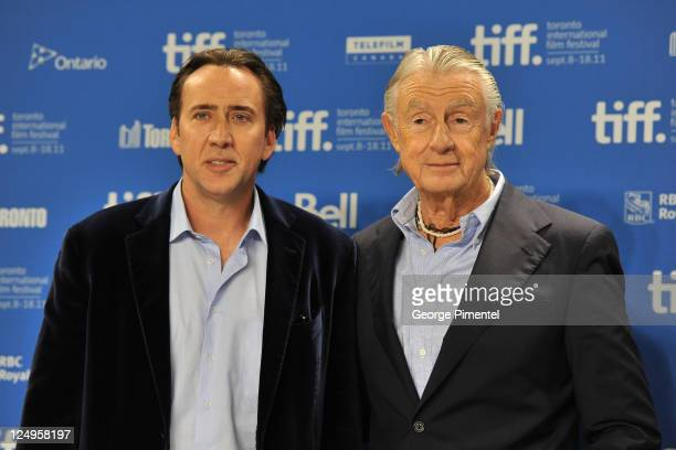 Actor Nichoals Cage and director Joel Schumacher speak at Trespass press conference during the 2011 Toronto International Film Festival at the TIFF...