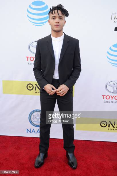 Actor Nicholas Ashe arrives at the 48th NAACP Image Awards at Pasadena Civic Auditorium on February 11 2017 in Pasadena California