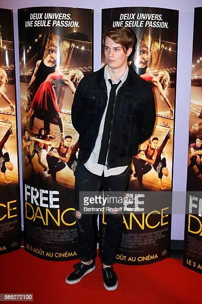 Actor Nicholas Galitzine attends the 'Free Dance' Paris Premiere at Gaumont Aquaboulevard on August 2, 2016 in Paris, France.