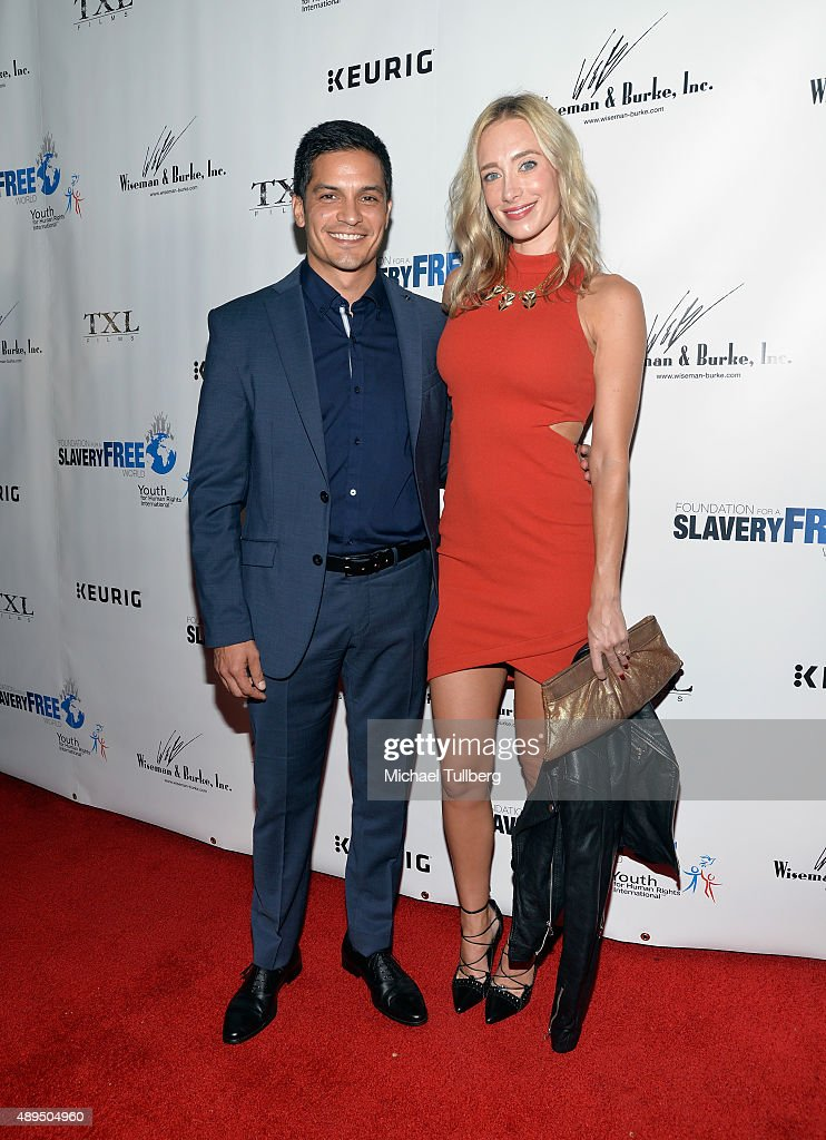Actor Nicholas Gonzalez and guest attend The Human Rights Hero Awards presented by Marisol Nichols' Foundation for a Slavery Free World and Youth for Human Rights Internationa at Beso on September 21, 2015 in Hollywood, California.