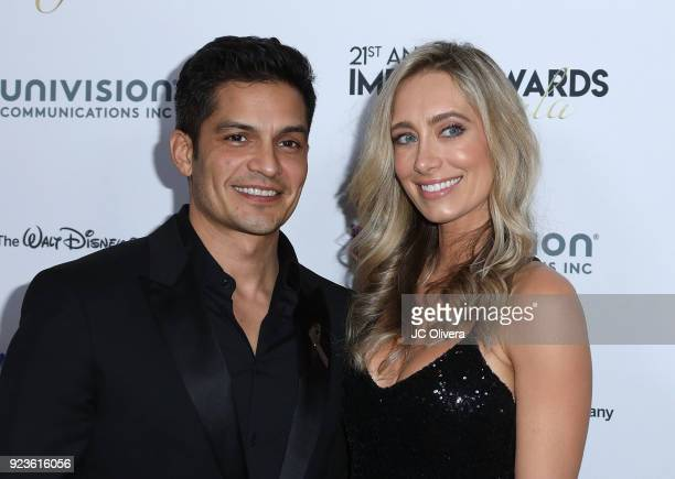 Actor Nicholas Gonzalez and wife Kelsey Crane attend the 20th Annual National Hispanic Media Coalition Impact Awards Gala at Regent Beverly Wilshire...