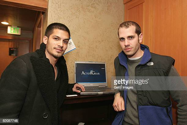 Actor Nicholas Gonzalez visits the ActorGearcom display at the Gibson Gift Lounge during the 2005 Sundance Film Festival on January 23 2005 in Park...