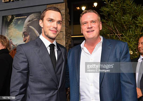 Actor Nicholas Hoult and composer John Ottman attend the premiere of New Line Cinema's Jack The Giant Slayer at TCL Chinese Theatre on February 26...