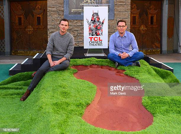 Actor Nicholas Hoult and director Bryan Singer attend the Jack The Giant Slayer footprint ceremony held at the TCL Chinese Theatre on February 28...
