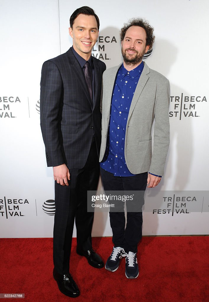 Actor Nicholas Hoult and Director Drake Doremus attend 'Equals' Red Carpet Premiere Night during Tribeca Film Festival at BMCC John Zuccotti Theater on April 18, 2016 in New York City.