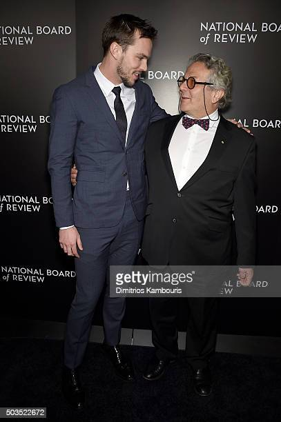 Actor Nicholas Hoult and director George Miller attend the 2015 National Board of Review Gala at Cipriani 42nd Street on January 5 2016 in New York...