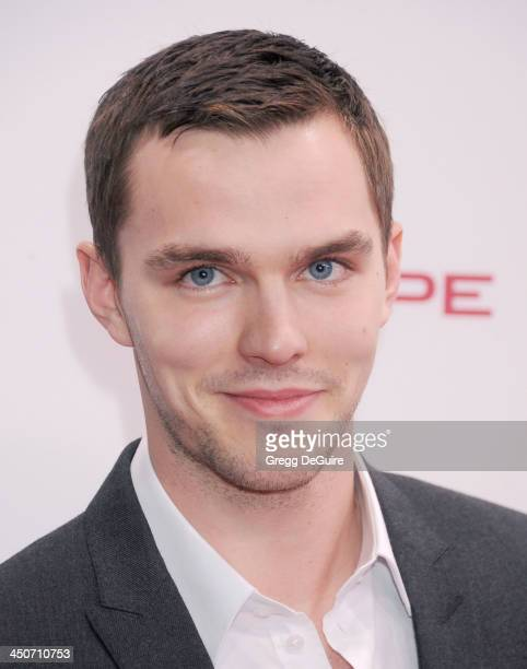 Actor Nicholas Hoult arrives at the Jaguar FTYPE Coupe launch party at Raleigh Studios on November 19 2013 in Playa Vista California