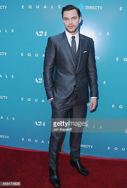 Actor Nicholas Hoult arrives at the Los Angeles Premiere 'Equals' at ArcLight Hollywood on July 7 2016 in Hollywood California