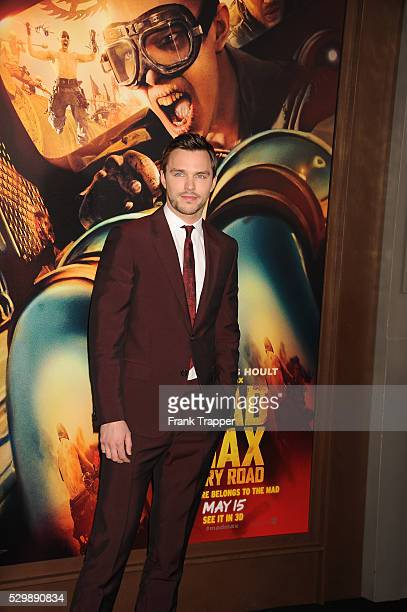 """Actor Nicholas Hoult arrives at the premiere of """"Mad Max: Fury Road"""" held at the TCL Chinese Theater in Hollywood."""