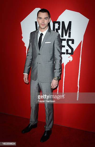Actor Nicholas Hoult arrives at the premiere of Summit Entertainment's Warm Bodies at ArcLight Cinemas Cinerama Dome on January 29 2013 in Hollywood...