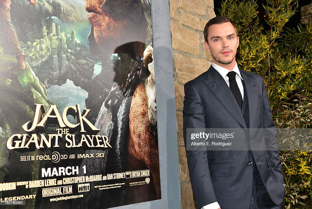 Actor Nicholas Hoult attend the premiere of New Line Cinema's 'Jack The Giant Slayer' at TCL Chinese Theatre on February 26, 2013 in Hollywood, California.