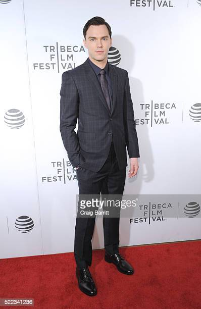 Actor Nicholas Hoult attends 'Equals' Red Carpet Premiere Night during Tribeca Film Festival at BMCC John Zuccotti Theater on April 18 2016 in New...