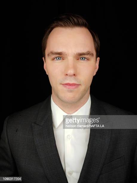 Actor Nicholas Hoult attends the portrait studio at Four Seasons Hotel Los Angeles at Beverly Hills on January 05 2019 in Los Angeles California