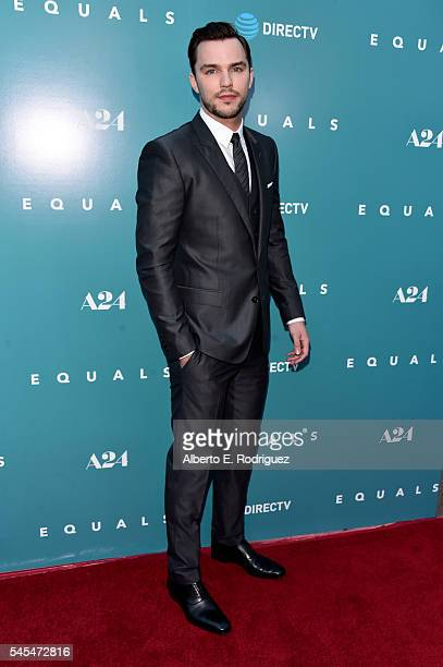 Actor Nicholas Hoult attends the premiere of A24's 'Equals' at ArcLight Hollywood on July 7 2016 in Hollywood California