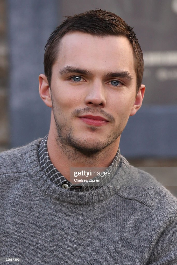 Actor Nicholas Hoult attends the unveiling of a giant footprint for 'Jack the Giant Slayer' at TCL Chinese Theatre on February 28, 2013 in Hollywood, California.