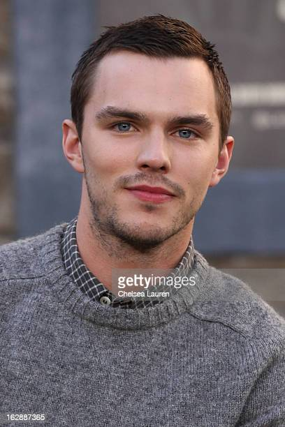 Actor Nicholas Hoult attends the unveiling of a giant footprint for 'Jack the Giant Slayer' at TCL Chinese Theatre on February 28 2013 in Hollywood...