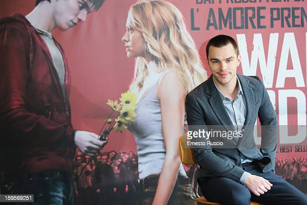 Actor Nicholas Hoult attends the 'Warm Bodies' Photocall at Cinema Adriano on January 16 2013 in Rome Italy