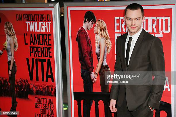Actor Nicholas Hoult attends the 'Warm Bodies' Premiere at Cinema Adriano on January 16 2013 in Rome Italy