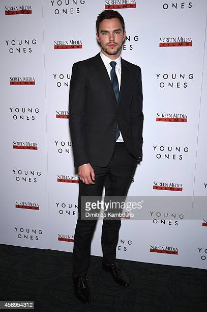Actor Nicholas Hoult attends the 'Young Ones' New York premiere at Sunshine Landmark on October 9 2014 in New York City