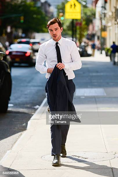 Actor Nicholas Hoult enters The Late Show With Stephen Colbert taping at the Ed Sullivan Theater on July 12 2016 in New York City