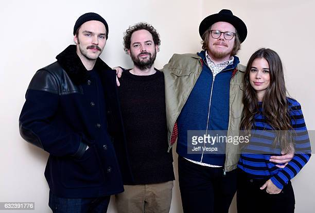 """Actor Nicholas Hoult, filmmaker Drake Doremus, writer Ben York Jones and actress Laia Costa from the film """"Newness"""" pose for a portrait in the..."""