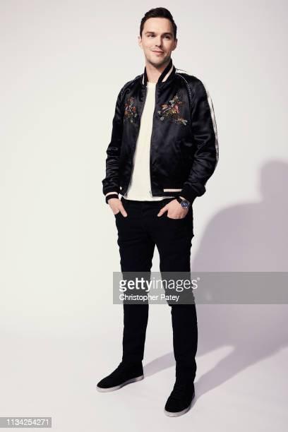 Actor Nicholas Hoult from 'Dark Phoenix' poses for a portrait at Anaheim Convention Center on March 28 2019 at WonderCon Anaheim in Anaheim California