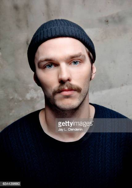 Actor Nicholas Hoult from the film Newness is photographed at the 2017 Sundance Film Festival for Los Angeles Times on January 22 2017 in Park City...