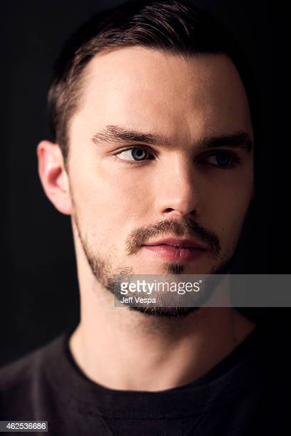 Actor Nicholas Hoult is photographed at the London Hotel for the Mad Max Fury Road press day on January 30 2015 in West Hollywood California