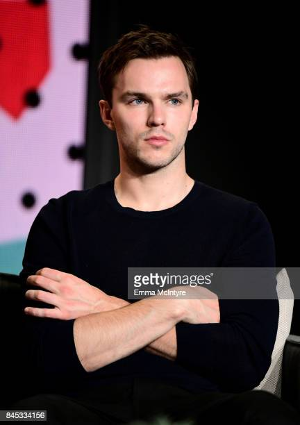 Actor Nicholas Hoult speaks onstage at The Current War press conference during the 2017 Toronto International Film Festival at TIFF Bell Lightbox on...