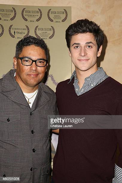 Actor Nicholas Turturro and actor/director David Henrie arrive at the screening of David Henrie's new short film 'Catch' at Sunset Screening Room on...