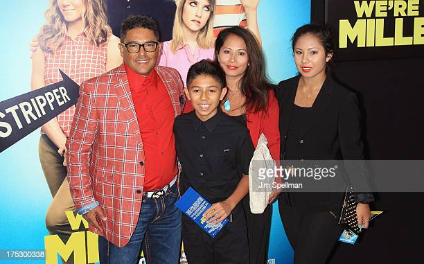 Actor Nicholas Turturro and family attend the 'We're The Millers' New York Premiere at Ziegfeld Theater on August 1 2013 in New York City