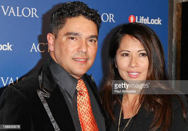 Actor Nicholas Turturro and Lissa Espinosa attend the Act Of Valor Los Angeles premiere at ArcLight Cinemas Cinerama Dome on February 13 2012 in...