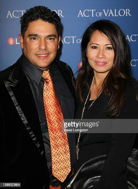 Actor Nicholas Turturro and Lissa Espinosa attend the premiere of Relativity Media's Act of Valor at ArcLight Cinemas on February 13 2012 in...