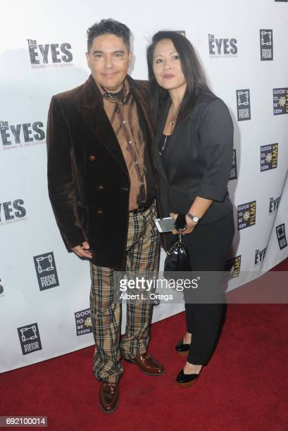 Actor Nicholas Turturro and wife Lissa Espinosa arrive for the Premiere Of Parade Deck Films' The Eyes held at Arena Cinelounge on April 7 2017 in...