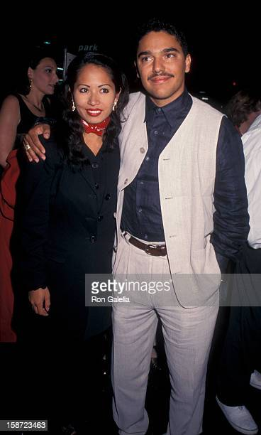 Actor Nicholas Turturro and wife Lissa Espinosa attending the premiere of The Search for OneEye Jimmy on June 19 1996 at Village Cinema in New York...