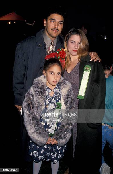 Actor Nicholas Turturro wife and daughter Erica Turturro attending 63rd Annual Hollywood Christmas Parade on November 27 1994 at KTLA Studios in...