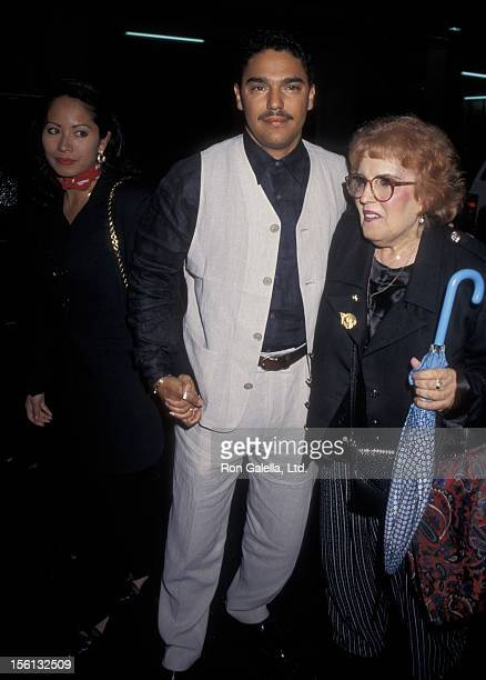 Actor Nicholas Turturro wife Lissa Espinosa and mother Katherine Turturro attending the premiere of 'The Search for OneEye Jimmy' on June 19 1996 at...