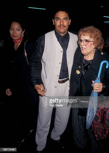 Actor Nicholas Turturro wife Lissa Espinosa and mother Katherine Turturro attending the premiere of The Search for OneEye Jimmy on June 19 1996 at...