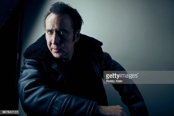 Actor Nick Cage poses for a portrait in the YouTube x Getty Images Portrait Studio at 2018 Sundance Film Festival on January 19 2018 in Park City