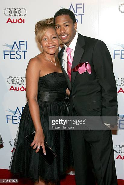 Actor Nick Cannon and mother Beth Hackett arrive at the AFI FEST presented by Audi opening night gala of Bobby at the Grauman's Chinese Theatre on...