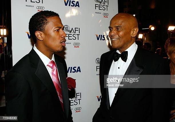 Actor Nick Cannon and musician Harry Belafonte arrive at the AFI FEST presented by Audi opening night gala of Bobby at the Grauman's Chinese Theatre...