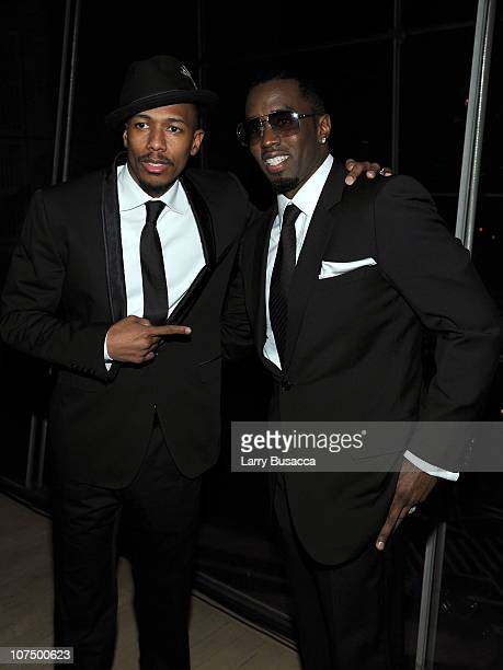 Actor Nick Cannon and Sean Diddy Combs attend City Of Hope's Music and Entertainment Industry Presents The Roast Of Stephen Hill at Jazz at Lincoln...