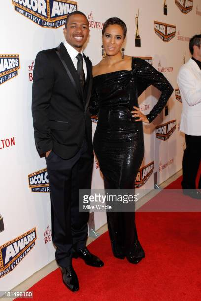 Actor Nick Cannon and Television Personality Daphne Wayans attend the ADCOLOR Awards at The Beverly Hilton Hotel on September 21 2013 in Beverly...