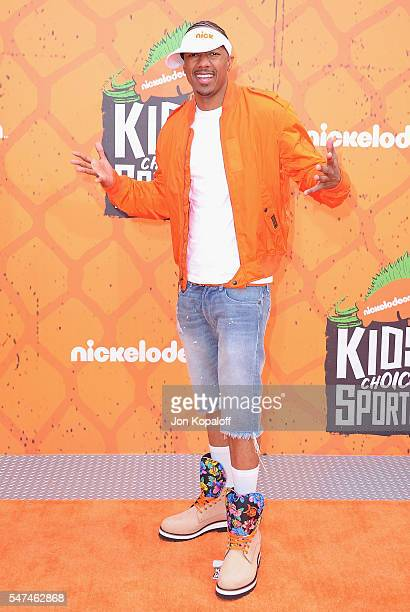 Actor Nick Cannon arrives at Nickelodeon Kids' Choice Sports Awards 2016 at UCLA's Pauley Pavilion on July 14 2016 in Westwood California