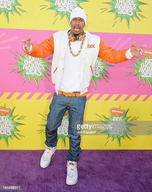 Actor Nick Cannon arrives at Nickelodeon's 26th Annual Kids' Choice Awards at USC Galen Center on March 23 2013 in Los Angeles California