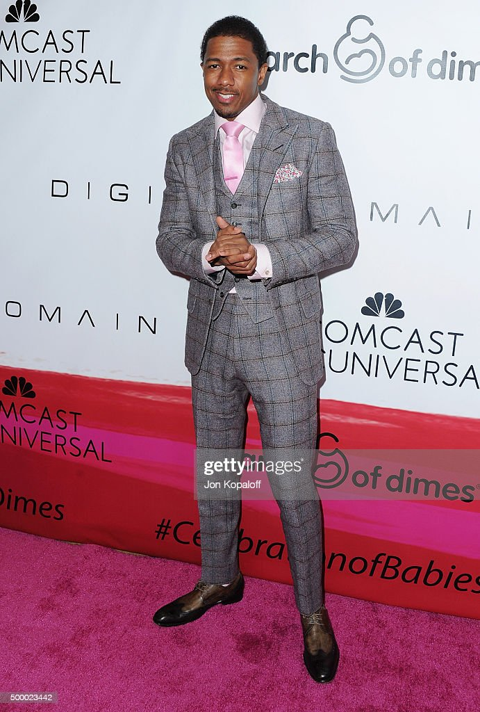 Actor Nick Cannon arrives at the 2015 March Of Dimes Celebration Of Babies at the Beverly Wilshire Four Seasons Hotel on December 4, 2015 in Beverly Hills, California.